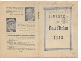 """1943 - PROPAGANDE - ALMANACH PRO-COLLABORATION Du """"TRAIT D'UNION"""" (PETAIN ET HITLER à L'INTERIEUR) - Calendars"""