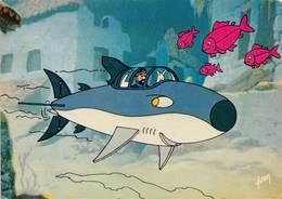 YVON- Tintin Et Le Lac Aux Requins- Haddock Et Milou Dans Le Sous-Marin Requin 24-144-25 - Bandes Dessinées