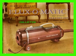 BOOK - Vintage ELUX-O-MATIC ELECTROLUX Vacuum Cleaner Manual Brochure - 34 PAGES - DIMENSION 18 X 25 Cm - - Livres, BD, Revues