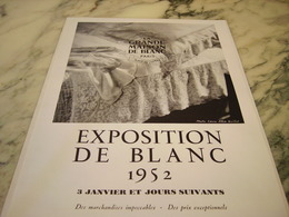 ANCIENNE   PUBLICITE MAGASIN EXPOSITION  LA GRANDE MAISON DE BLANC  1952 - Publicités