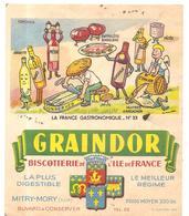 Buvard GRAINDOR LA FRANCE GASTRONOMIQUE N°33 - Biscottes
