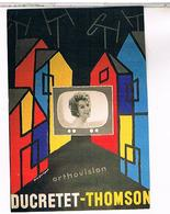 PUBLICITE CPM  TELEVISION  DUCRETET  THOMSON 1960 - Pubblicitari