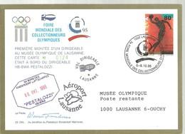 C.I.O POSTMARKET    SUIZA   VOL MONTEE - Juegos Olímpicos