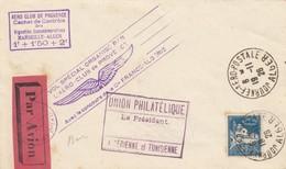 LETTRE COVER. FRANCE 1926. AERO-CLUB DE PROVENCE - Briefmarken