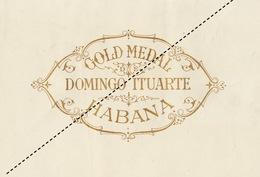 1893-1894 Grande étiquette Boite à Cigare Havane LA VAGUE - Etiquettes