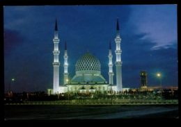C482 MALAYSIA - SHAH ALAM - SULTAN SALAHUDDIN MOSQUE AT NIGHT - Malesia