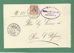 CITERNA  PERUGIA  28/1/1911 + RR POSTE IL SINDACO DI CITERNA SU èPIEGO PER PIEVE S.STEFANO - Storia Postale