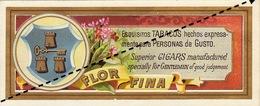 1893-1894 ETIQUETTE Boite à Cigare Havane FLOR DE MENDOZA - Etiquettes