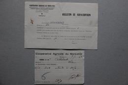 Cave Agricole Du Mont D'Or à Manosque (Alpes De Haute-Provence), Bulletin Souscription Et Facture, 1948-46 - France