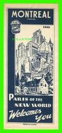 CARTES ROUTIÈRES - MONTRÉAL, QUÉBEC EN 1946 - DIMENSION 48 X 62 Cm - PARFAITE CONDITION - - Cartes Routières