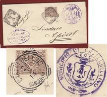 CASTELBELLINO (ANCONA) Annullo Tondoriquadrato Su 1 C. PIEGO PER IL SINDACO DI APIRO - Storia Postale
