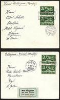 Suisse Svizzera FLUGMEETING ZÜRICH 1927:  Zurigo > Bellinzona > Zurigo Hin- Und Rückflug Mit Zu F4 Mi 213 Yv PA4 - Poste Aérienne