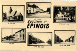 BELGIQUE - HAINAUT - BINCHE - EPINOIS - Souvenir D'Epinois (Multivues). - Binche