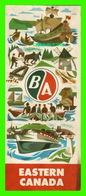 CARTES ROUTIÈRES - EASTERN CANADA DE 1959 - DIMENSION 46 X 76 Cm - - Cartes Routières