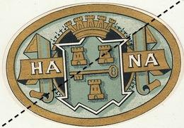 1893-1894 étiquette Boite à Cigare Havane EL COMERCIO - Etiquettes