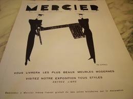 ANCIENNE PUBLICITE MAISON AMEUBLEMENT DECO MERCIER FRERES 1931 - Publicités