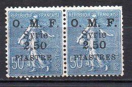 Col11   Syrie  Variété N° 97 Paire Neuf XX MNH Cote 58 Euros - Great Lebanon (1924-1945)