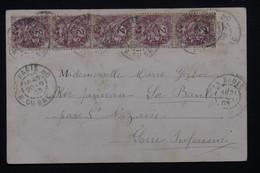FRANCE - Affranchissement Au Type Blanc De Paris Sur Carte Postale En 1903 - L 21312 - Marcophilie (Lettres)