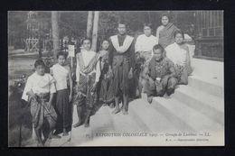 FRANCE - Carte Postale De L 'Exposition Coloniale De 1907 - Groupe De Laotiens - L 21313 - Expositions
