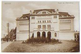 Cpa Bon Etat , Lituanie ,  Tres Propre , Wilno   Teatr  Na Pohulance - Lituanie