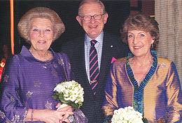 DP00644 - NETHERLANDS - DUTCH ROYALTY - BEATRIX PRINCESS MARGRIET MR. P. VAN VOLLENHOVEN - CP ORIG. ROYAL PRESS 348 - Familles Royales