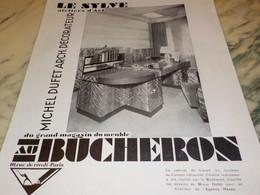 ANCIENNE PUBLICITE MAGASIN DE MEUBLE BUCHERON  1931 - Publicité