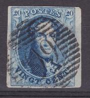 N° 11 A  Margé  Bord De Feuille - 1858-1862 Médaillons (9/12)