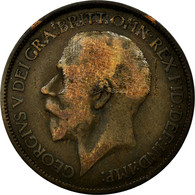 Monnaie, Grande-Bretagne, George V, 1/2 Penny, 1923, B+, Bronze, KM:809 - 1902-1971 : Monnaies Post-Victoriennes