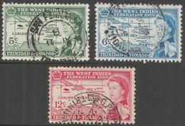 Trinidad & Tobago. 1958 Inauguration Of British Caribbean Federation. Used Complete Set. SG 281-283 - Trinidad & Tobago (...-1961)