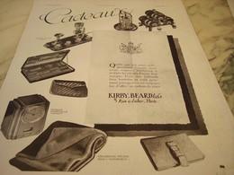 ANCIENNE PUBLICITE CADEAU KIRBY BEARD 1931 - Publicités