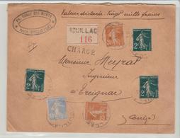 """LOT: """" SOUILLAC """" CàD Horoplan / LSC CHARGEE De 1932 Pour Treignac TB - 1921-1960: Période Moderne"""