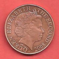 2 Pence , JERSEY , Elisabeth II , Cuivre , 2008 , N° KM # 104 - Jersey
