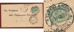 S.ELPIDIO A MARE  *ASCOLI * 26/2/21 + RR T.S. SU PIEGO PER FORLI' - Storia Postale