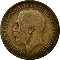 Monnaie, Grande-Bretagne, George V, 1/2 Penny, 1919, B+, Bronze, KM:809 - 1902-1971 : Monnaies Post-Victoriennes