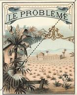 1893-1894 étiquette Boite à Cigare Havane LE PROBLEME - Etichette