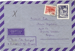 Hongrie 1972 - Lettre PA De Budapest à Vorselaar, Belgique - Affranchissement Composé - YT 1560/71 - Hongrie