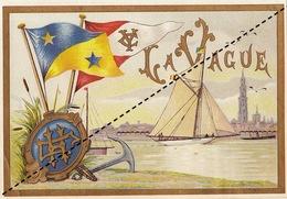 1893-1894 étiquette Boite à Cigare Havane LA VAGUE - Etiquettes