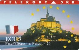 Denmark, TP 081A, ECU-France, Mint, Only 3000 Issued, Castle, Flag, 2 Scans. - Denmark
