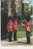 Postcard - Posting The Sentries, At The Tower  - Unused Very Good - Ansichtskarten