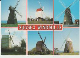 Postcard - Sussex Windmills - Six Views - Unused Very Good - Unclassified