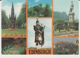 Postcard - Edinburgh Five Views And Piper - Posted 19th March 19812 Very Good - Ansichtskarten
