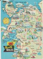 Postcard - Map - North Wales And Cardigan Bay - Unused Very Good - Ansichtskarten