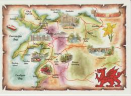 Postcard - Map - North Wales Card No.2ws107 - Used Posted But Date Obscured Very Good - Ansichtskarten