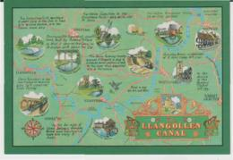 Postcard - Map - LLangollen Canal - Unused Very Good - Unclassified