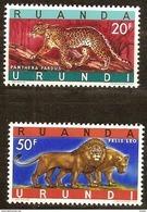 Ruanda-Urundi 1961 OCBn° 216A 216B *** MNH Cote 3 Euro Faune - Ruanda-Urundi