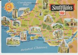 Postcard - Map - South Wales And Part Of The Channel - Unused Very Good - Ansichtskarten