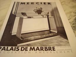 ANCIENNE PUBLICITE MAISON AMEUBLEMENT DECO MERCIER FRERES 1931 - Publicité