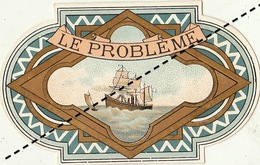 1893-1894 étiquette Boite à Cigare Havane LE PROBLEME - Etiquettes