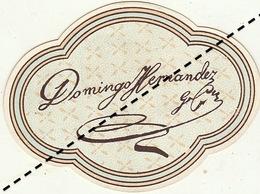 1893-1894 étiquette Boite à Cigare Havane DOMINGO HERNANDEZ - Etiquettes