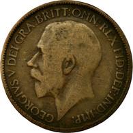 Monnaie, Grande-Bretagne, George V, 1/2 Penny, 1918, B+, Bronze, KM:809 - 1902-1971 : Monnaies Post-Victoriennes